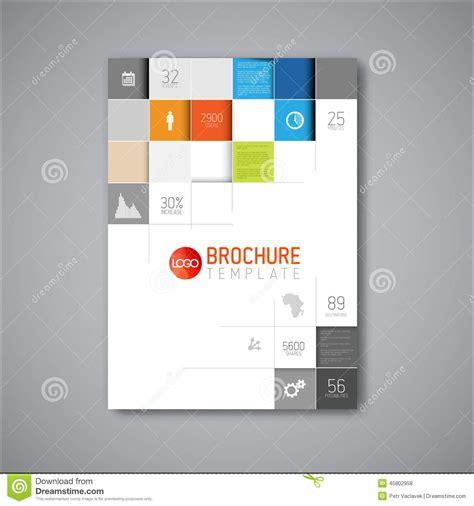 modern vector abstract brochure design template stock