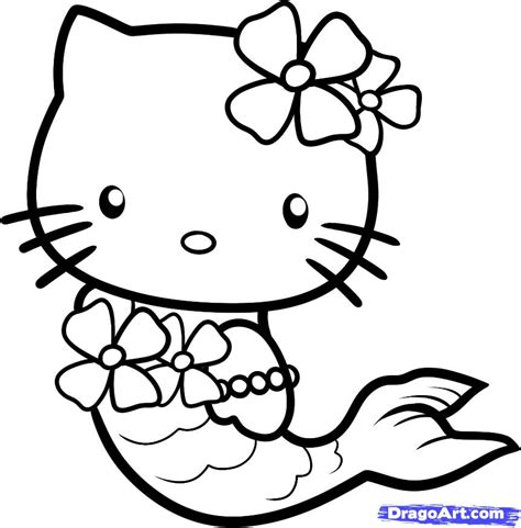 easy draw kitty az coloring pages