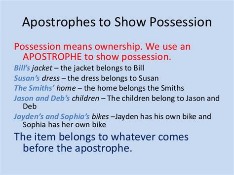 Do You Use An Apostrophe To Show Possession | apostrophes