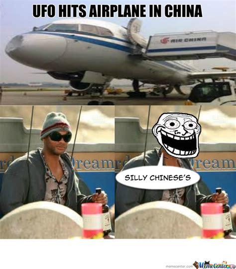 Ufo Meme - ufo hits airplane by kouzu meme center