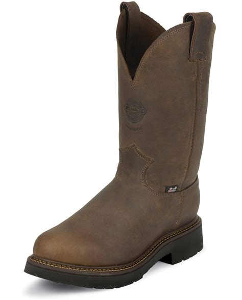 justin 174 original workboots s 11 quot rugged pull on work