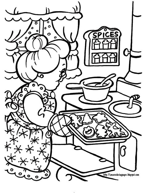 Mrs Claus Coloring Pages coloring pages