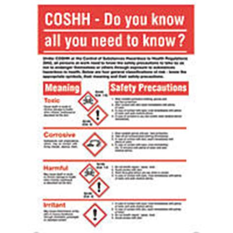printable coshh poster safety posters safety signs screwfix com