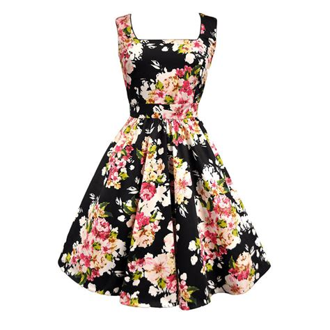 1950s style swing dress 1950s vintage style fabulously floral eliza swing dress by
