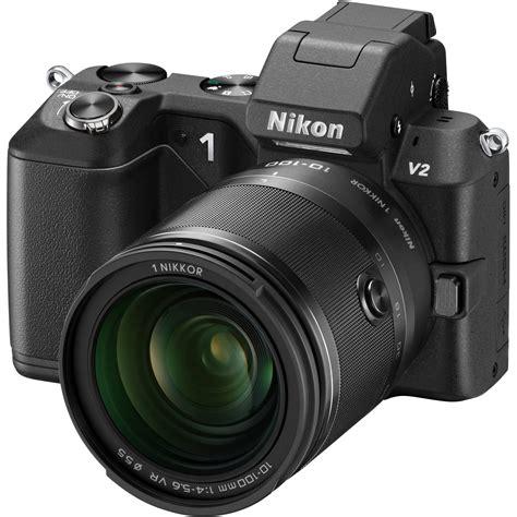 mirrorless nikon nikon 1 v2 mirrorless digital with 1 nikkor 27662 b h