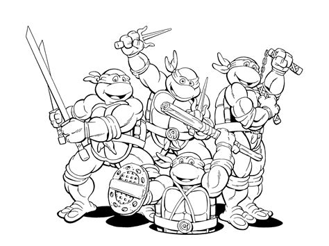 ninja ninja turtles colouring pages pictures pin