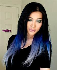 blue colored hair 23 ombre hair color ideas to inspire your next look