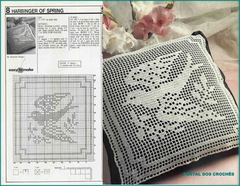 portal dos croches capas  almofadas quadradas em croche de file