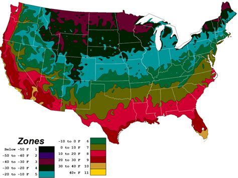 map usda zones planting info and usda map farmfreshseeds