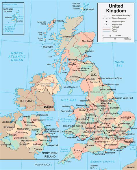 Map uk united kingdom
