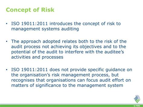 Risk Management Concepts And Guidance ppt iso 19011 2011 guidelines for auditing management