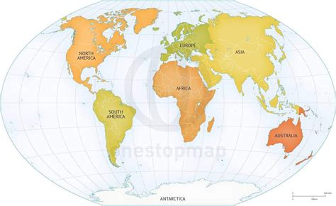 map world continents vector map of world continents political one stop map