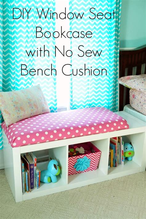 no sew bench cushion diy window seat bookcase with no sew bench cushion