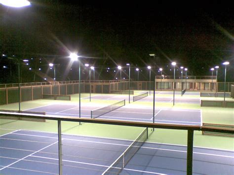 tennis courts with lights led tennis court light