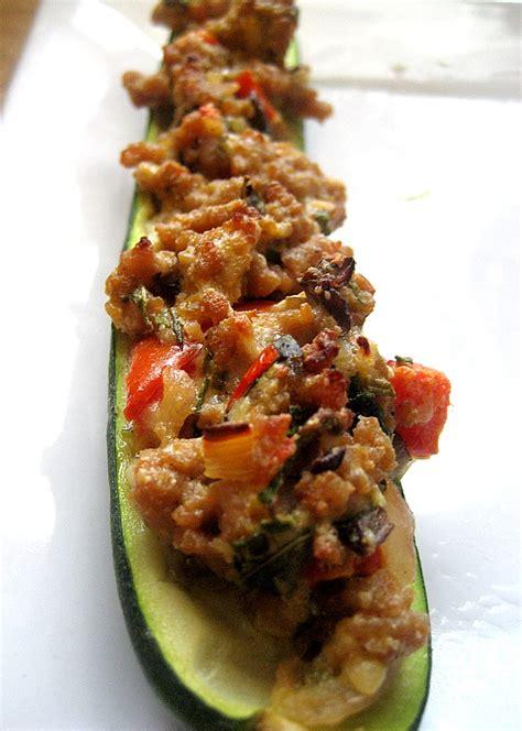 paleo turkey stuffed zucchini boats 50 delicious ground turkey recipes six sisters stuff