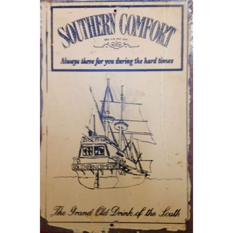 southern comfort memorabilia southern comfort steel sign food beverage tin signs