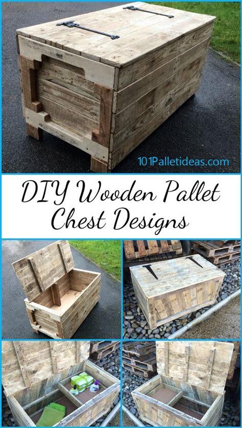 diy wooden pallet chest designs  pallet ideas