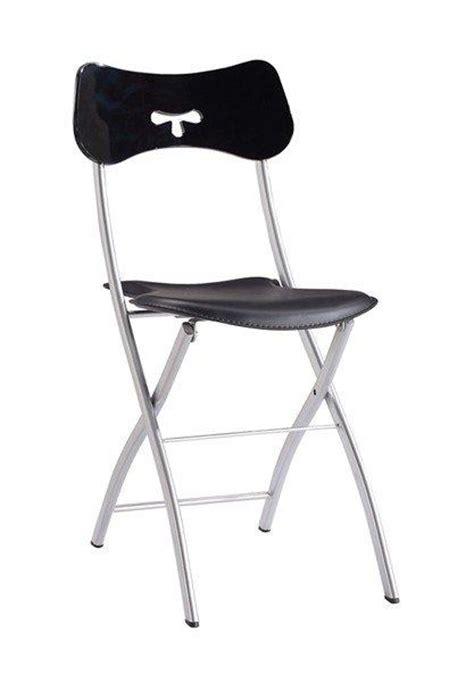 chaises pliantes design hopla lots de 2 chaises pliantes design cuir et metal chrome