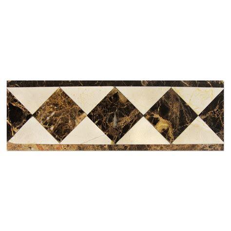 border crema marfil dark emperador bayyurt marble