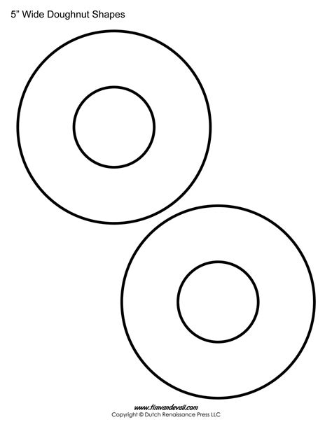 printable donut templates blank doughnut shapes