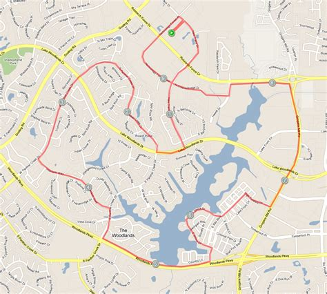 where is the woodlands on the map club maps version the woodlands running club