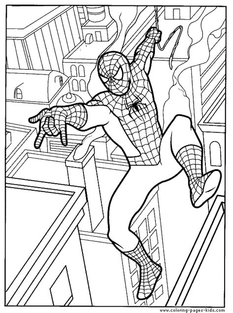 spiderman coloring page for kids to print spiderman