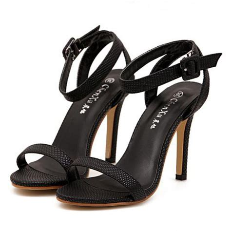 strappy black sandals high heels black snakeskin effect strappy high heel sandals