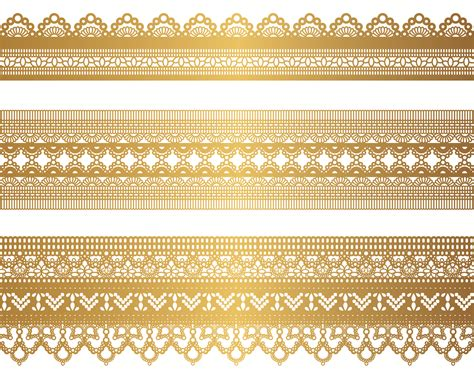gold wallpaper trim gold lace pattern 04 vector free vector 4vector