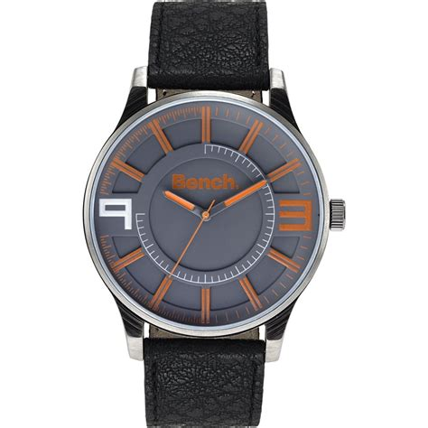 bench mens watches bench men s grey dial fashion watch bc0401orbk bench