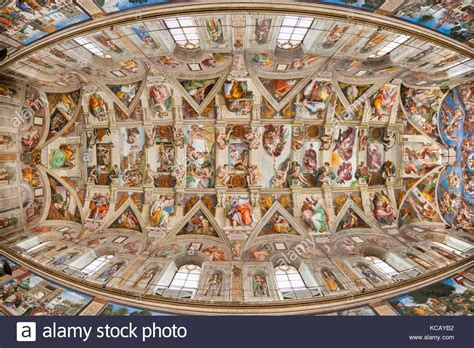Plafond Sixtine by Vatican Paintings Stock Photos Vatican Paintings Stock