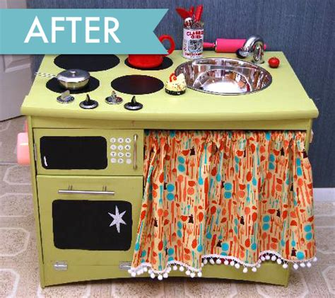 play kitchen from furniture thrift store furniture play kitchen home and garden