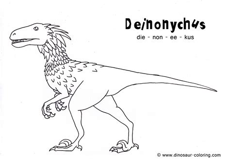coloring pages dinosaurs pdf deinonychus coloring