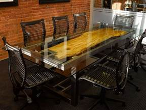 Plastic Covers For Dining Room Chairs custom conference table by where wood meets steel