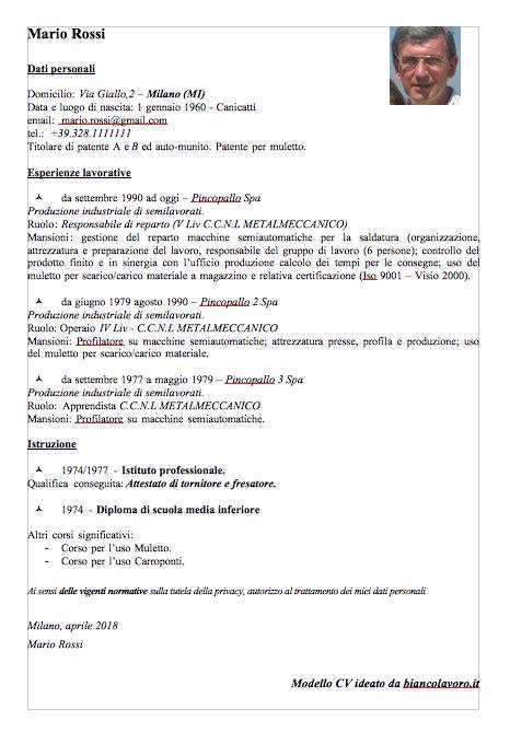 lettere presentazione cv modelli curriculum vitae con esempi da compilare bianco