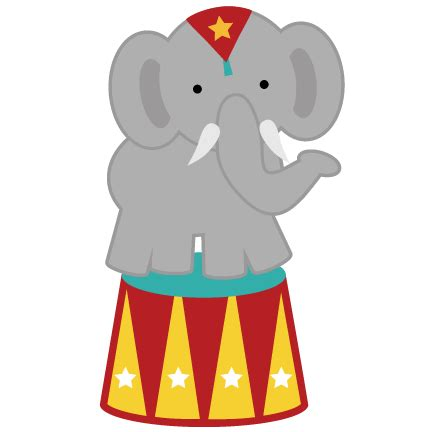 circus elephant png svg for clipart | back to school