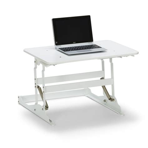 Wynston Sit Stand Desk Small White Officeworks Small Stand Up Desk