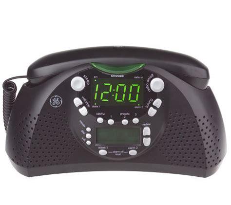 ge dual alarm amfm clock radio  bedroom phone wcaller