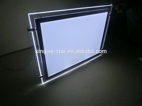 window light box suspended real estate window display led poster holder