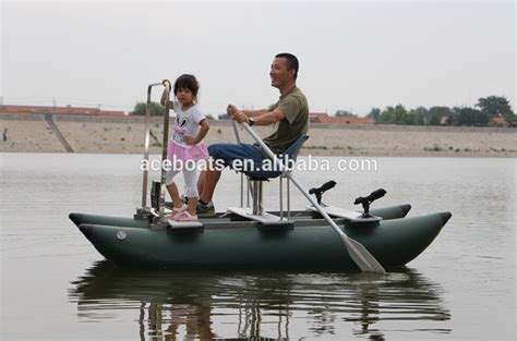 fishing from inflatable pontoon boat one person inflatable pontoon fishing boats buy one