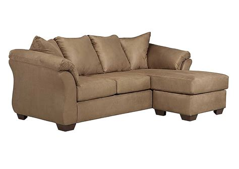 ashley couch with chaise jarons darcy mocha sofa chaise
