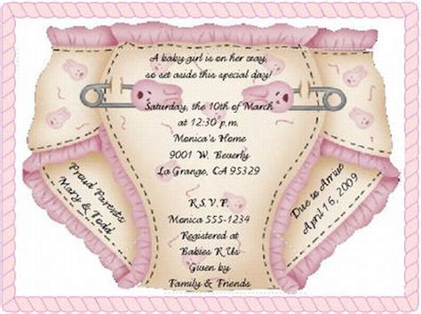 Gift Card Baby Shower Invitations - baby shower invitations cards gangcraft net