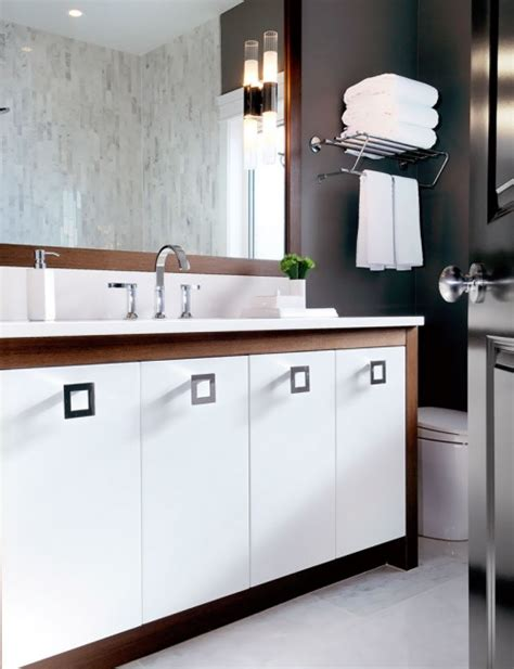 two tone bathroom cabinets two tone vanity contemporary bathroom atmosphere