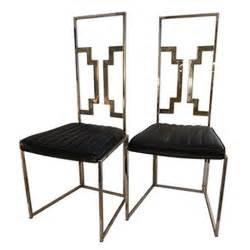 Quality Dining Chairs A Pair Of Brass Italian Quality Dining Chairs At 1stdibs