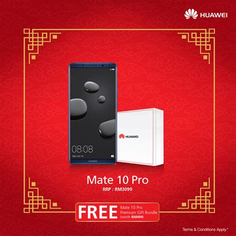 new year promotion smartphone exclusive huawei merchandises up to rm499 for grabs this