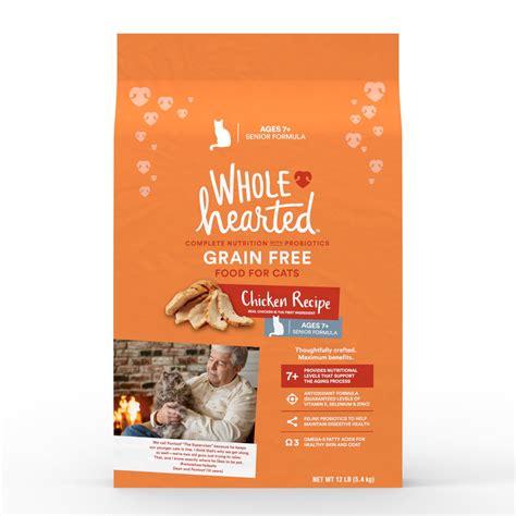 wholehearted food wholehearted grain free senior chicken recipe cat food petco