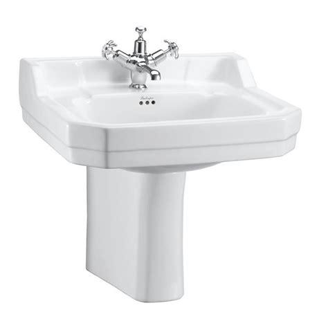Bathroom Pedestal Basins Burlington Edwardian 56cm Basin With Semi Pedestal
