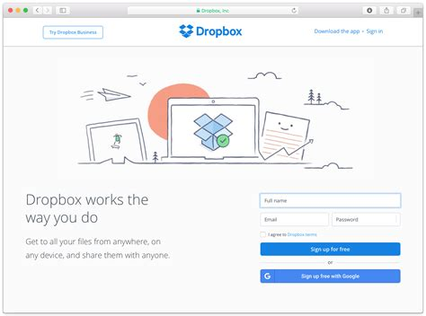 dropbox number free email quick sign up window framework 4 5