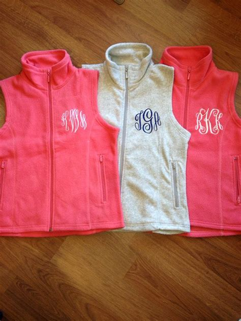 Monogrammed Gifts - monogrammed s micro fleece vest personalized