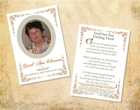funeral card template beneficialholdings info