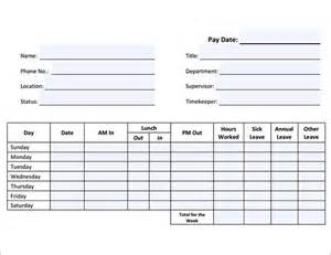 employees timesheet template employee timesheet sle 11 documents in word excel pdf